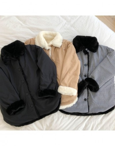 2 ways wearing 2018 Winter Jacket Women Coats Hooded short design Thick fur Padded Coats and jackets womens (X170) - Black -...