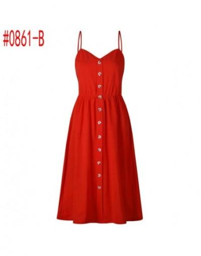 Summer Women Dress 2019 Vintage Sexy Bohemian Floral Tunic Beach Dress Sundress Pocket Red White Dress Striped Female Brand ...