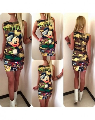 Fashion Casual 2019 Summer New Slim Dress Cartoon Sweet Cute Mini Package Hip Short Sleeve O-neck Women T-shirts Dress Vesti...