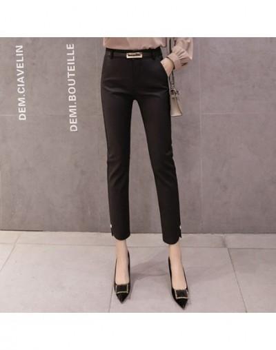 Black white blue women casual pants 2019 new autumn ladies pencil nine pants trousers office lady female feet pants - 5404bl...
