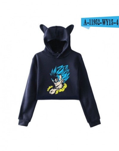 2019 Dragon Ball Super: Broly print fashion Cat Ears Top Women Hoodies Sweatshirt Sexy hot clothes trend sala - picture colo...