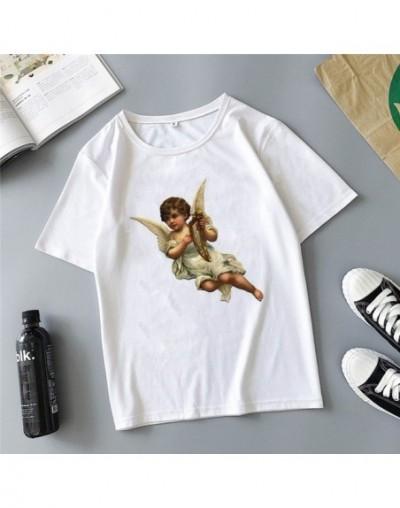Angel children fight printing cartoon cute Harajuku summer new fashion ins casual loose women's T-shirt tops - 11 - 4O308896...