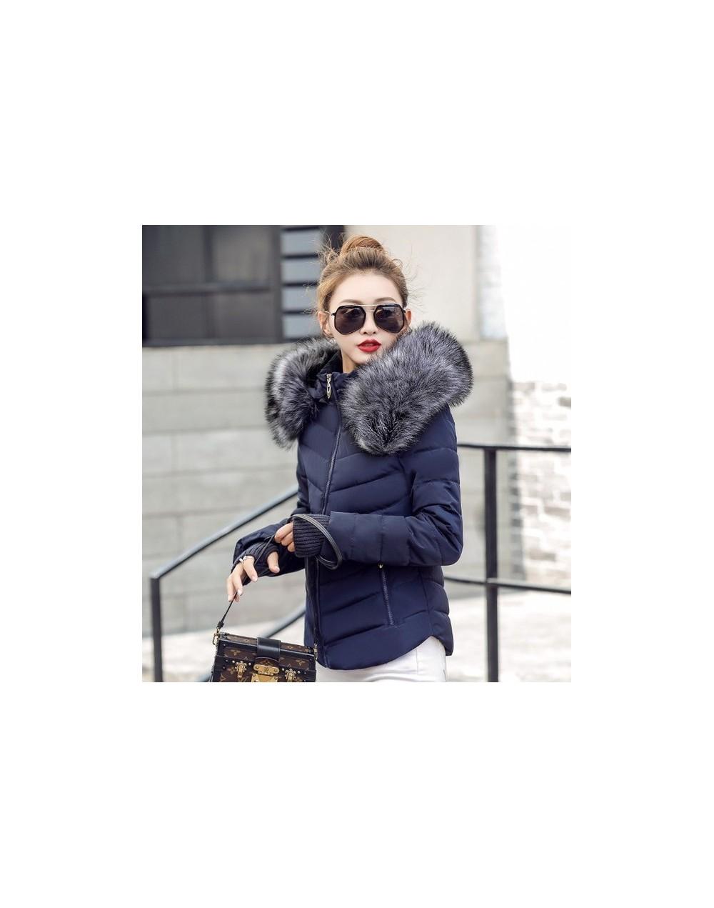 Fake raccoon fur collar parka down cotton jacket Winter Jacket Women thick Snow Wear Coat Lady Clothing Female Jackets Parka...