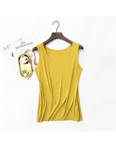 Spring Summer Tank Tops Women Sleeveless Round Neck Loose T Shirt Ladies Vest Singlets Camisole Cotton Rib Slim Ladies Thin ...