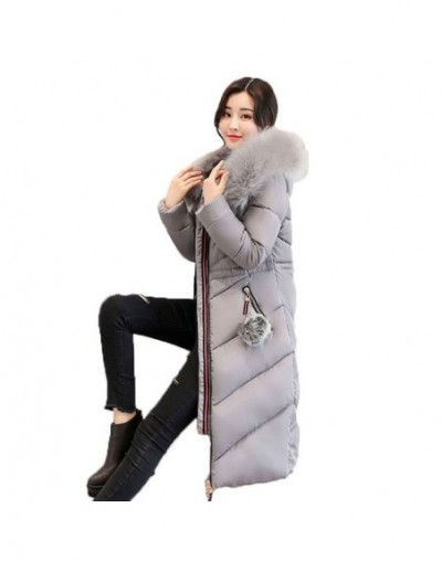 7XL Plus size Women Down Cotton Jackets 2019 New Big Fur collar Winter Hooded Thick Warm Overcoat Female Long Coats Parkas H...