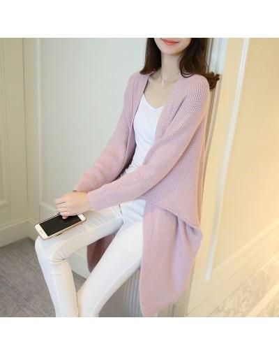 2018 Women Long Knitted Cardigans Coat Women Knitwear Sweater Oversize Female New Autumn Sweater Long Cardigan Plus Size Swe...