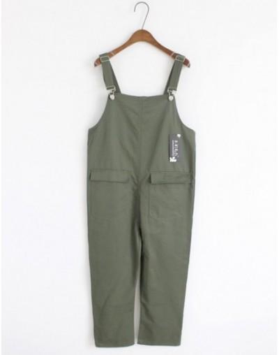 New Fashion Rompers Womens Solid Denim Jumpsuit Casual Linen Bodysuit Loose Pants Pockets Cotton Ladies Overalls Pants002 - ...