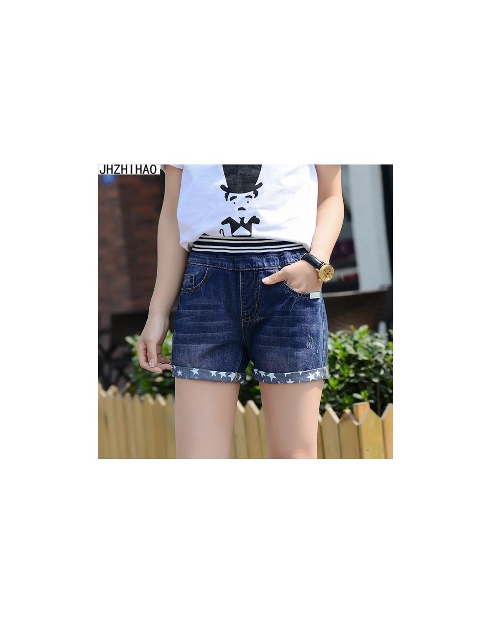 Loose hole denim shorts female summer loose large yards high waist fat mm students four five short wide leg shorts hot short...