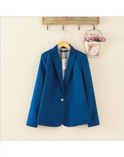 2018 Blazer Women Suit Blazer Foldable Brand Jacket Made Of Cotton &Spandex With Lining Vogue Refresh Blazers - Blue - 45399...