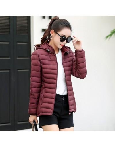 Parkas Mujer 2019 Autumn Winter Jacket Woman Clothes Plus Size Korean Detachment Cap Black Coat Padded Veste Femme KJ417 - W...