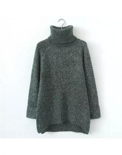 2019 Autumn Winter Korean Long Sweater Women Turtleneck Loose Pullover Knit Sweater Solid Wild Fashion Female Tops 65885 - 6...