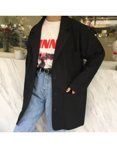 Blazers Women Solid Simple Single Breasted All-match Jackets Womens Casual Loose Spring Korean Style Ladies Elegant Daily Ch...