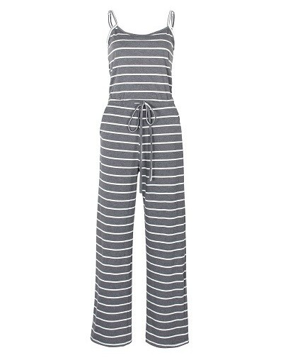 Striped Summer Women Jumpsuits 2019 Spaghetti Strap Long Playsuits Sexy Casual Beach Jumpsuit Wide Leg Pants Overalls XXL GV...