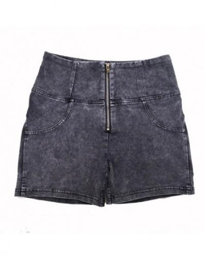 Melody Denim Shorts High Waist Short Jeans For Women Support Drop Shipping Order - Gray - 52111187596185-4