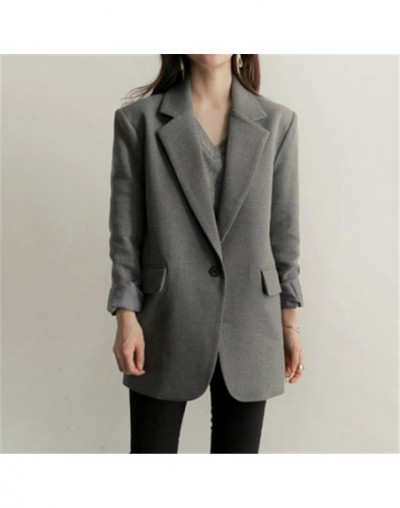 high quality Newest 2019 Designer Blazer Women's Coats Long Sleeve Single-breasted Blazers Suit Jacket Outerwear X437 - gray...