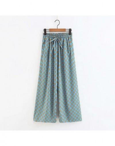 Kimono Two Piece Set Autumn Casual Feathger Sleeve Coat+wide Leg Pants Womens Clothing 2 Piece Set Deep V 2 Pieces Set - Pan...