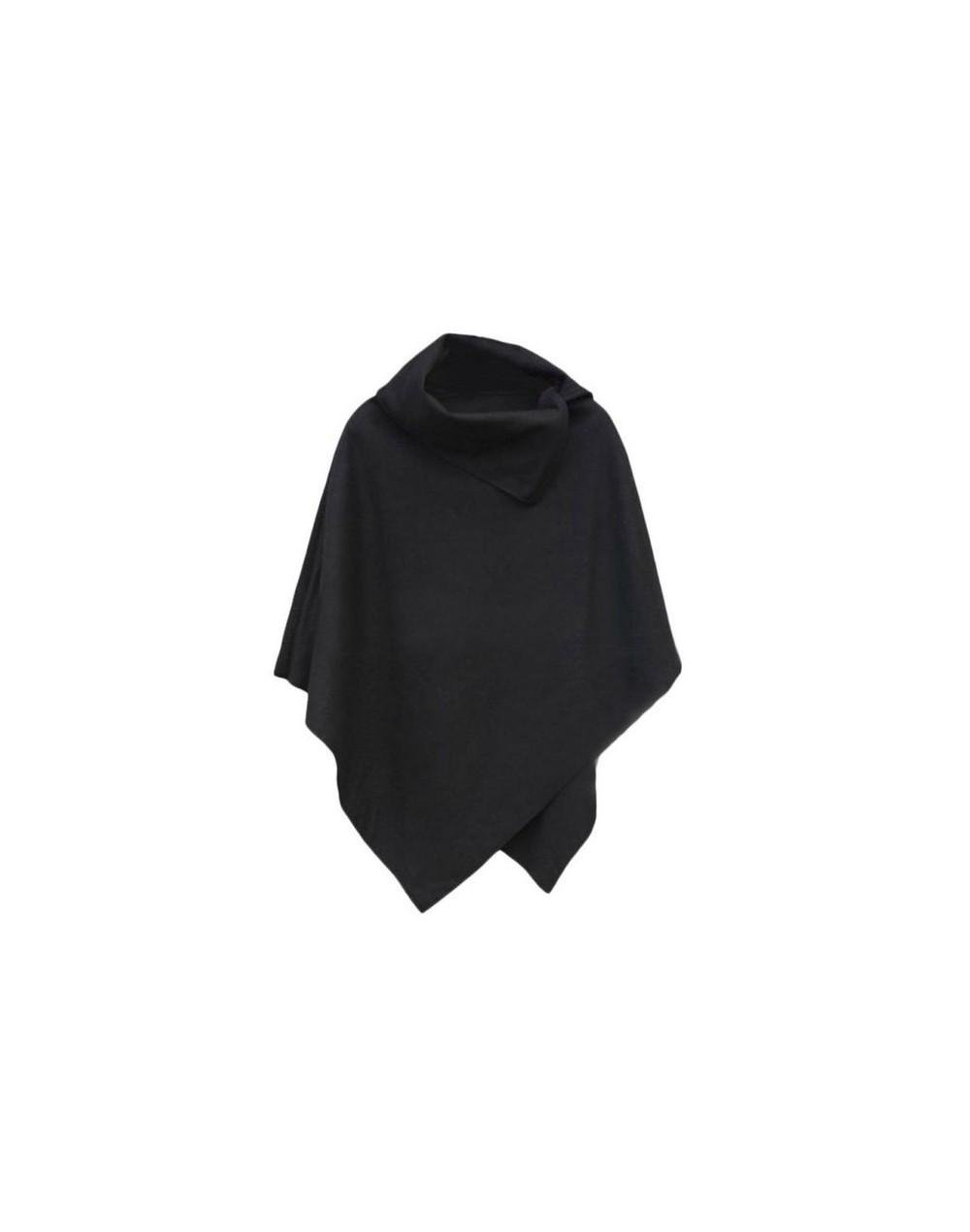 Sweater Women Cape Cloak Coat Tops Jackets Sweater Women Pullover Knitted Camisolas 2018 - black - 493024331678-3