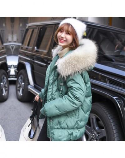 Parka Women Winter Coats Mid-Long Cotton Padded Jacket Faux Fur Collar Hooded Overcoat Thick Warm Winter Parkas Female Coat ...