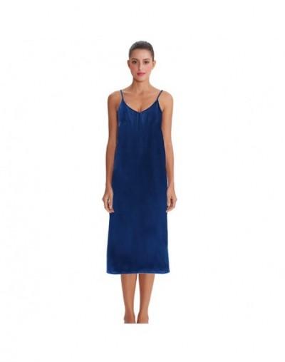 High quality women dress Summer spaghetti dress satin long dress very soft smooth M30262 - 6 - 4H4134780761-6