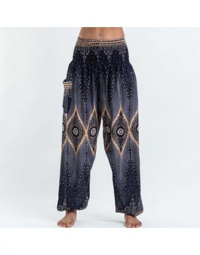New Floral Print Harem Pants Women Casual Elastic Waist Loose Thai Pants Boho Summer Beachwear Trousers Comfy Home Wear Pant...