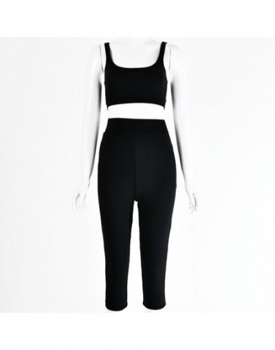 2019 summer women two piece set tracksuit clothes plus size club outfits sets festival clothing sweat suits crop top - Black...