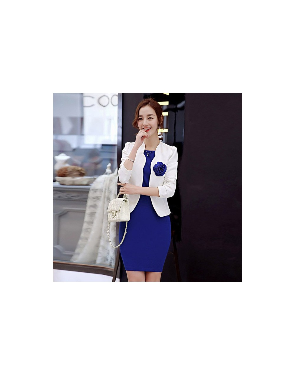New 2019 close-fitting hip dress slim fit office blazers for women professional work outfits ladies dress and jacket suits L...