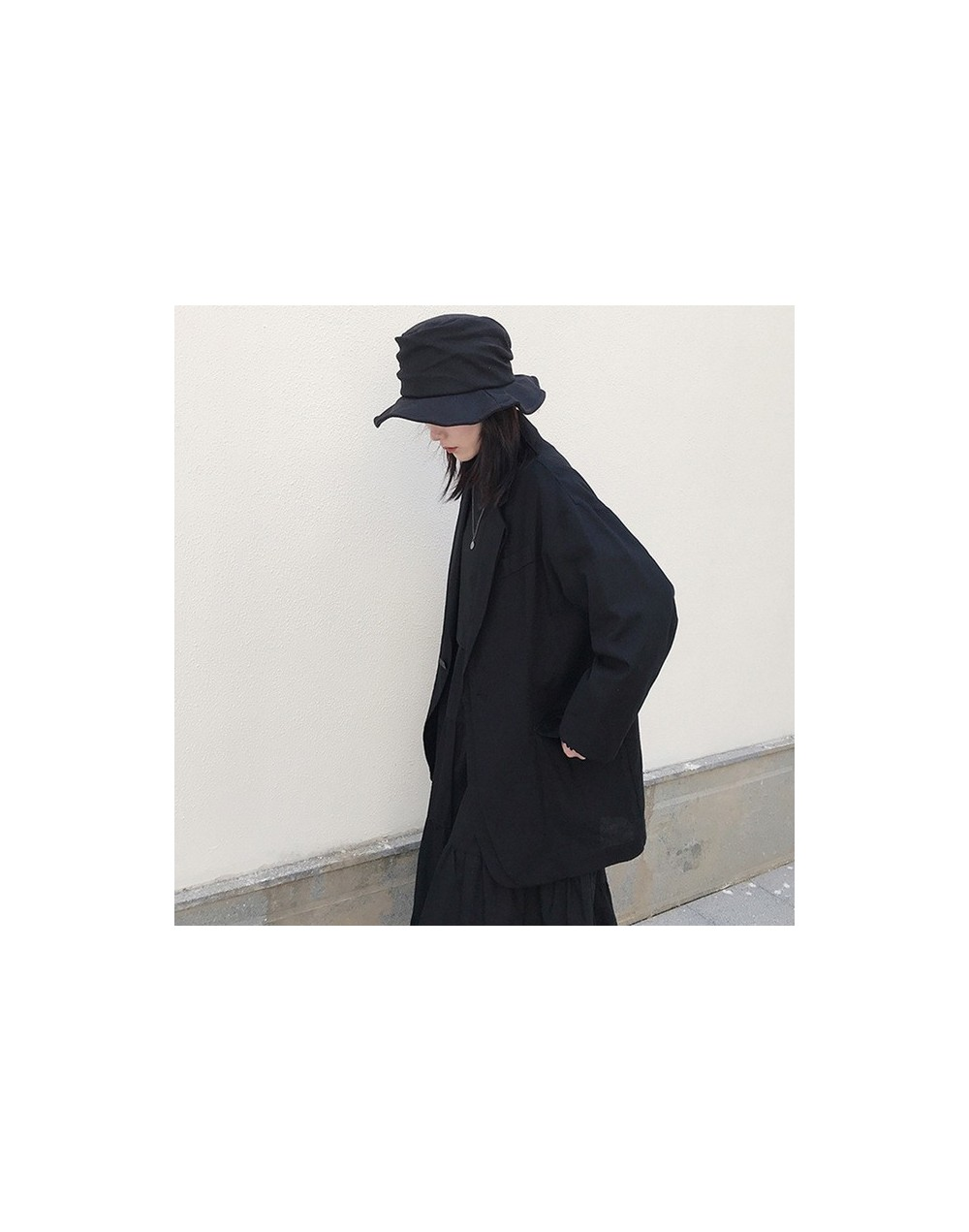 2019 New Spring Summer Lapel Long Sleeve Single Button Irregular Brief Temperament Jacket Women Coat Fashion Tide JX240 - bl...