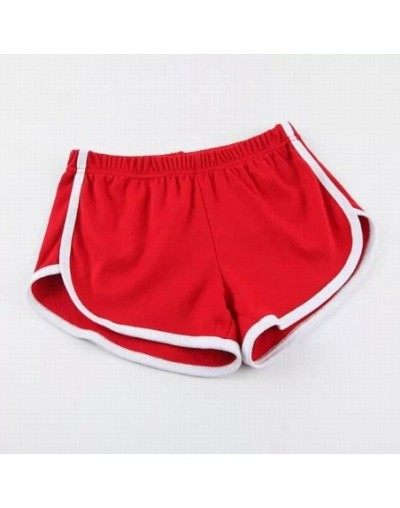 Summer Street Fashion Sexy Shorts Women Elastic Waist Short Pants Women All-match Loose Solid Soft Casual Shorts NP001 - RED...