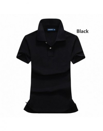 High quality 2019 Summer women's short sleeve polos shirts solid color cotton casual lady polos shirts fashion slim womens t...