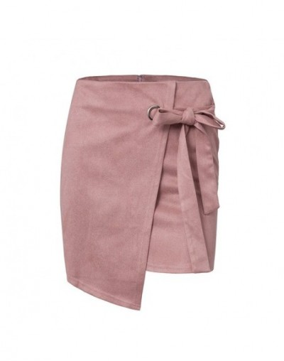 Women Skirts Summer Skirt Female Vintage Suede Split Skirts Jupe Femme Faldas Mujer - as show - 4X3005987598-2