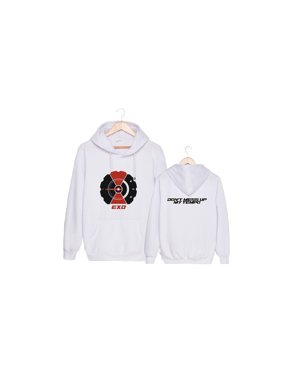 KPOP EXO 5th Album DON'T MESS UP MY TEMPO BAEKHYUN D.O. Hip Hop Hooded Sweatshirt Long Sleeve Tops K-POP Pullovers Hoodies P...