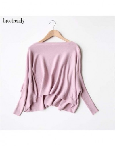 Women's Brief Fashion Batwing sleeve Irregular Length Short Design Pullovers Sweater Ladies Casual Autumn Winter Sweaters To...