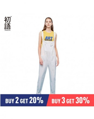 Jumpsuits for Women 2019 Vintage Sleeveless Casual Loose Overalls Solid Cotton Playsuits Front Pocket Cute bf Bib Pant - Bla...