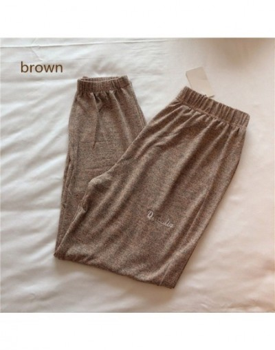 Summer new sports lazy pants home pants harem pants wear loose casual fashion pants - brown - 463099444148-4
