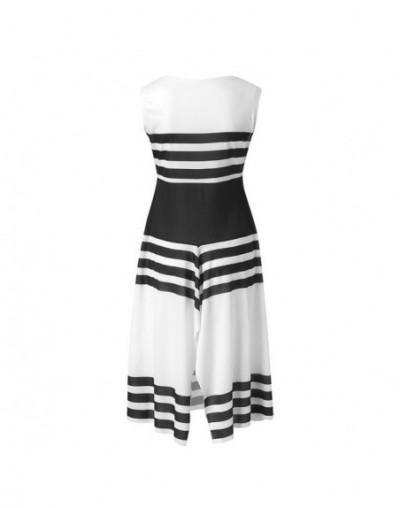 Summer women dresses stripe girl fashion Stripe Sleeveless Casual Dress Women Round Neck Vestido female Midi Party dresses -...