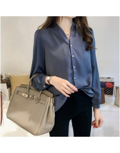 Autumn plus size 3XL 4XL long sleeve shirt women top female blusa feminina fashion women blouses 2018 chiffon blouse shirt A...