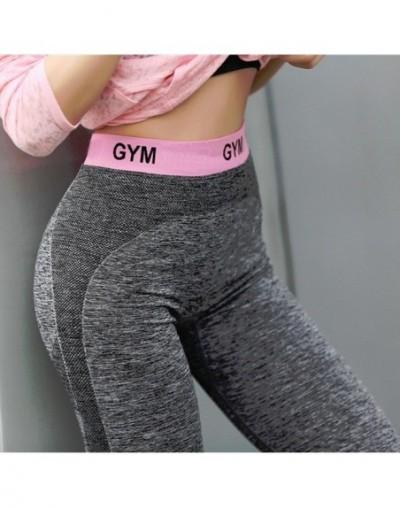 Patchwork Slim Women Leggings Fitness High Waist Elastic Leggings For Women Workout Quick Dry Pants Push Up Leggins - Pink -...