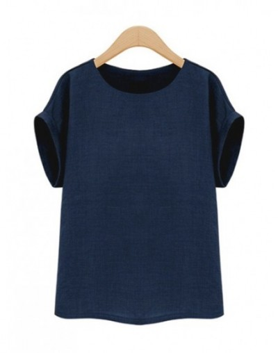 Summer Fashion shirt women tops Short Sleeves Female Blouses Casual Loose office blouse Blusas femininas Plus Size 5XL - Nav...