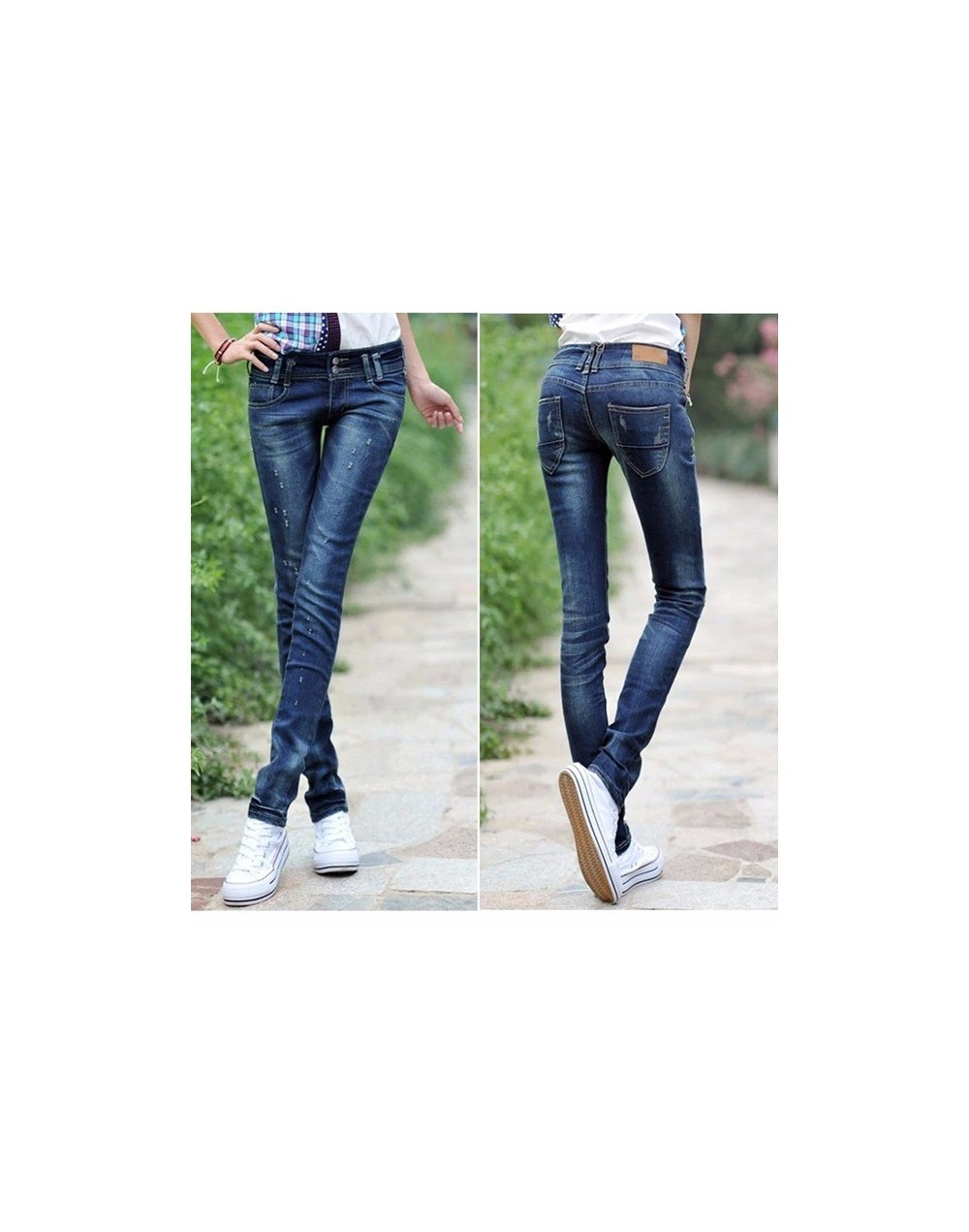 2018 Fashion Sexy pencil pants slim fit Spring Summer jeans woman Low waist skinny trousers lady For Women Denim Jeans pants...