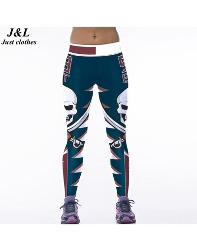 Classic Captain America 3D Print Women Sporting Leggings Sexy Fitness Pants Female Elastic Workout Clothes Ropa Mujer - A8 -...