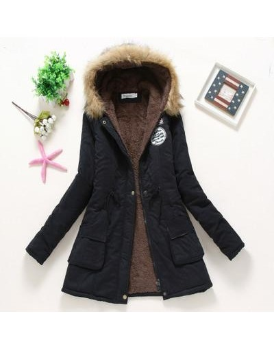 2018 Faux Fur Hooded Parka Mujer Winter Cotton Padded Jacket Women Plus Size 3xl Autumn Thick Long Parkas Female Coat - Blac...