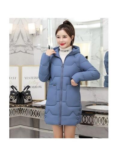 2019 Winter Women Hooded Warm Coats Plus size Loose Cotton padded Jacket Female Long Parka Womens Outerwear Casual Basic Coa...