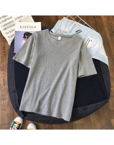 Harajuku Women Short Sleeve T Shirts Casual Print Couple T Shirt 2019 Graphic Striped Tops Plus Size Students Tee Shirts - B...