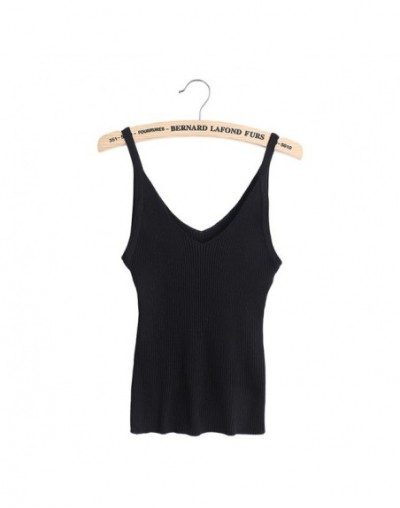 Fashion Women Vest Camisole Casual Tops V-neck Sling Tank Tops Knit Vest Vest Stretch Ladies Slim Sexy With Strips Camis Top...