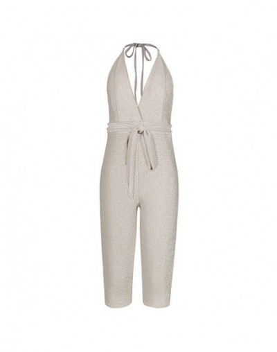 Sexy Deep V Neck Women Halter Strappy Bandage Romper Sashes Jumpsuit Backless Sleeveless Skinny Club Short Playsuit Overalls...