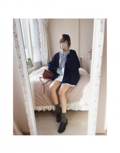 Korean Fashion Cardigan Women Thin Sweater New Autumn Winter Loose Open Stitch Casual Solid Color Warm Cardigans Coat For Wo...