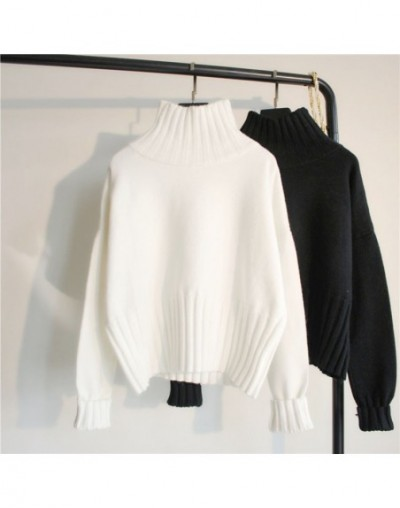 Turtleneck Sweater Women Pullover High Elasticity Knitted Ribbed Slim Jumper Autumn Winter Basic Female Sweater truien dames...