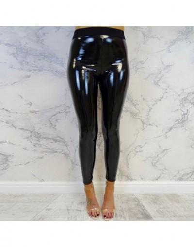 Women Leather Leggings High Waist Punk Leggings Women Black Jeggings Legging Femme Gothic Clothing Female - Black - 41306961...