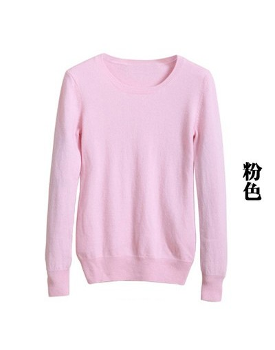 Hot selling New arrival women's Sweater Wool Sweater Female round neck pullover Knit Cashmere Sweater cultivating wild - Pin...