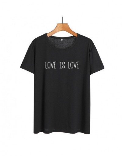 Love Is Love T-shirt Women's Pride Saying Gay Rights Equality Slogan Letters Print Tshirt Summer Cotton Tops Women Clothes 2...